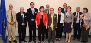 Mme Le Bail, Postulski sowie weitere Vertreter/innen europäischer Netzwerke (© European Union, 2014)