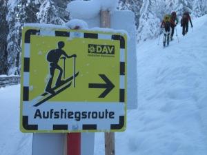 Skitouren auf Pisten © Manfred Scheuermann